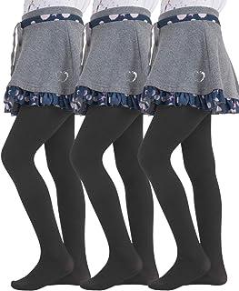 Filles x3 Coton Riche Collants Noir 3-4 ans Confort Ceinture Brand New Kids