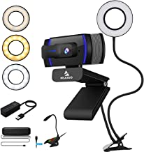 AutoFocus 1080P Streaming Webcam Kits, NexiGo FHD USB Web Camera, 3.5 Inch Selfie Ring Light, USB Speaker and Microphone, ...