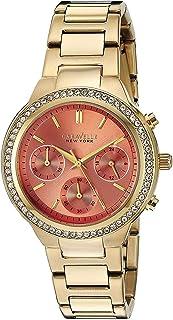 Caravelle New York Women's 44L218 Swarovski Crystal Gold Tone Watch
