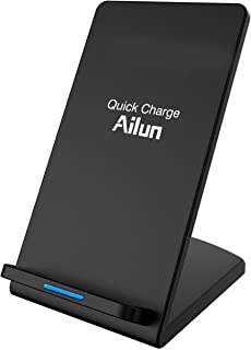Wireless Charger,by Ailun,Universal for All Qi-Enabled Devices,for iPhone 11/11 Pro/11 Pro Max/XR/Xs Max/XS/X/8/8 Plus,Galaxy S10 Plus S9 Plus S8 Plus,Note 10/9/8/7, S7/S7 Edge/S6 Edge+[Black]