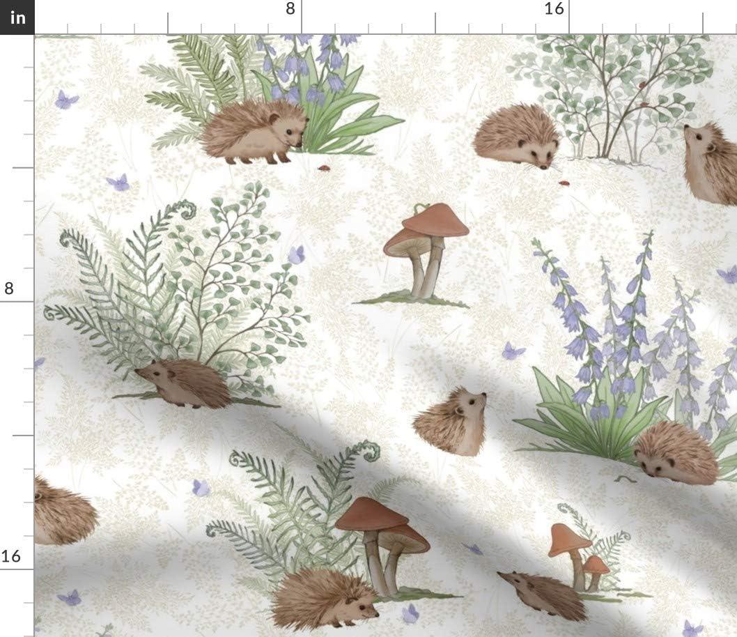 Spoonflower Fabric - Virginia Beach Mall Hedgehog Max 50% OFF Baby Nursery Gender Woodla Neutral