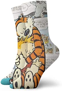 Calcetines Transpirable Hope Tree Fashion Custom Calvin and Hobbes Crew Sock Exotic Modern Women & Men Impreso Sport Calcetines deportivos 30 cm (11.8 pulgadas)