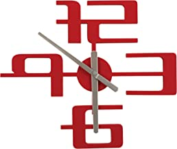 Umbra Big Time Wall Clock, Red