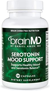 Dr. Amen brainMD Serotonin Mood Support - 120 Capsules - Promotes Tranquil Mind & Body, Supports Calm, Emotional Balance &...