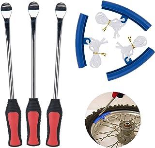 AutoEC/® Reifen Hebel L/öffel Kits Motorrad-Fahrrad-Fachmann-Reifen-/Änderungs-Ausr/üstung mit Kanten-Schutz-H/üllen
