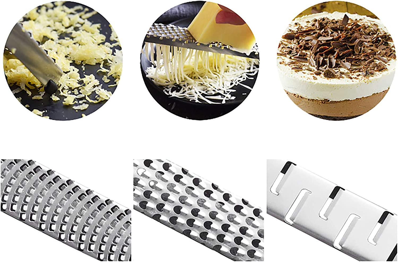 ajo Lim/ón c/ítricos rallador y queso rallador para cocina peque/ña herramienta rebanadora de acero inoxidable para jengibre chocolate y frutas