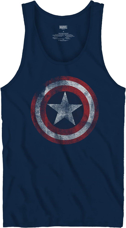 Marvel Camiseta sin mangas para adulto con licencia oficial del escudo del Capitán América