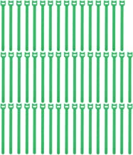 Pasow 50pcs Reusable Fastening Adjustable Cable Ties wire Management (8 Inch, Green)