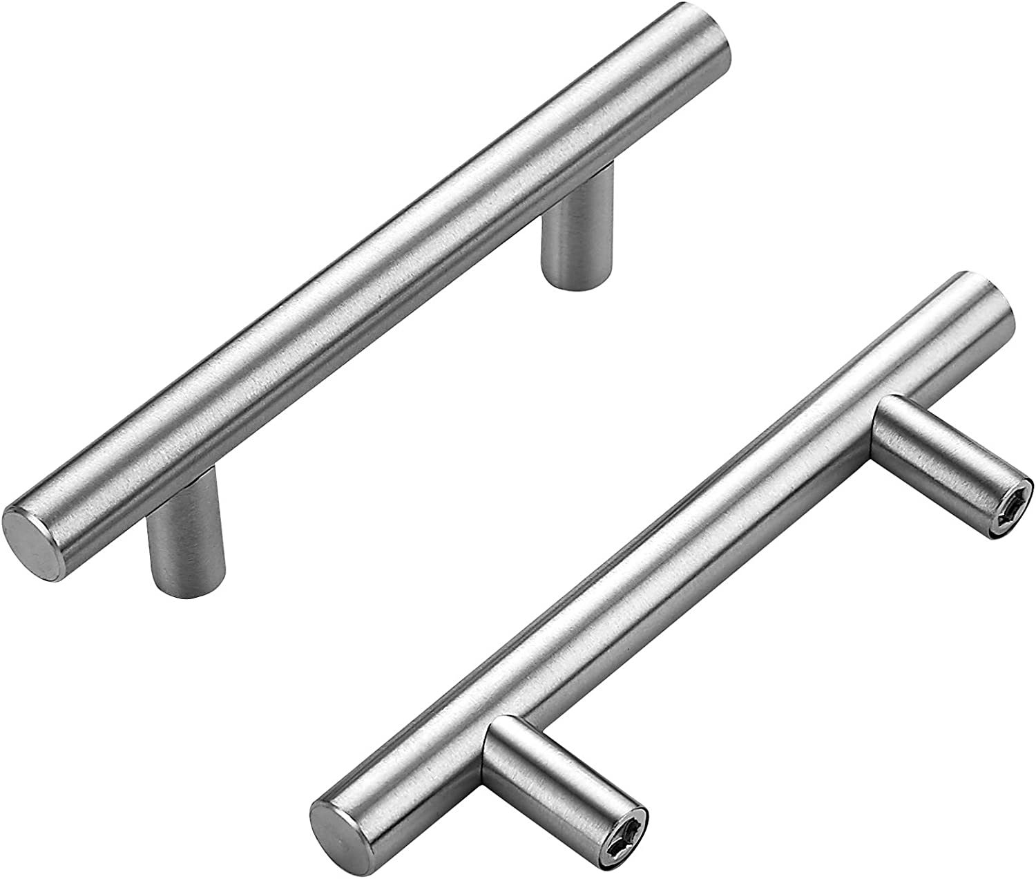 5 Inch Cabinet Award Pulls Brushed - Nickel Product Handles Exper Home