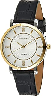Trend Design Women's White Dail Leather Band Watch - 123L-5