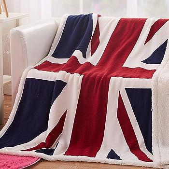 """Union Jack UK Flag Throw Blanket 63*51/"""" 160*130 cm fleece-like micofiber"""