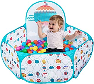 Baby Playpens Baby Safety Bars Childrens Playhouse Indoor Crawling Toddler Boy and Girl Safety Activity Center Folding Baby Color : Green, Size : 72 * 75 * 112cm