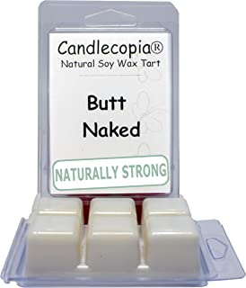Candlecopia Butt Naked Strongly Scented Hand Poured Vegan Wax Melts, 12 Scented Wax Cubes, 6.4 Ounces in 2 x 6-Packs