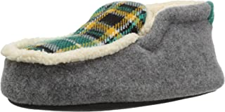 Dearfoams Kid's Felt and Plaid Bootie Slipper
