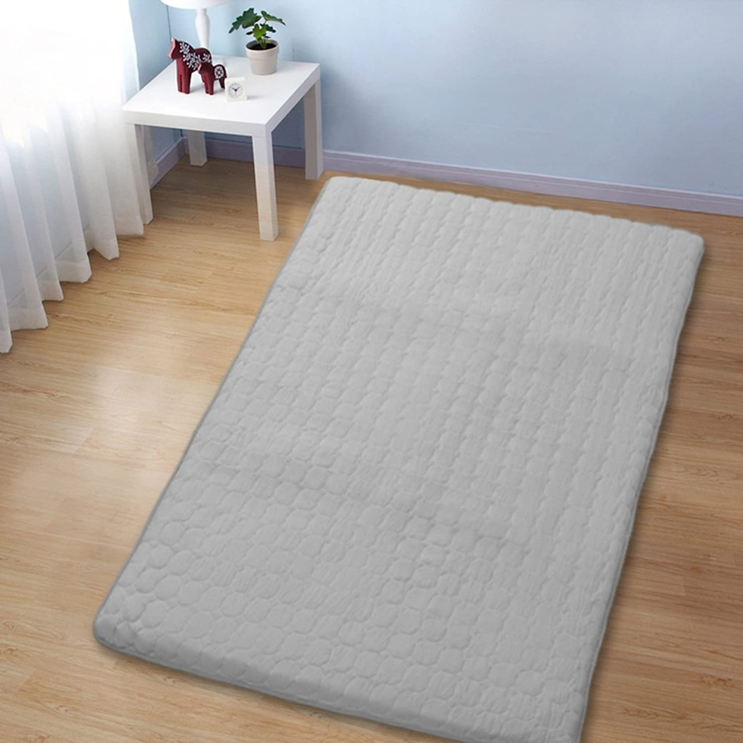 Non-Slip Tatami Floor mat,Foldable Cushion mats Quilted Bed Predection pad Dorm Portable Sleeping pad Washable-B 90x200cm(35x79inch)