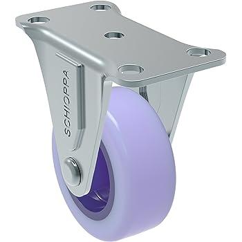 GL 210 GEL Blue 50 mm Plate: 2 x 2-1//2 90 lbs Non-Marking Polyurethane Wheel Schioppa BH 1 x 2 Swivel Non-Brake Caster 2