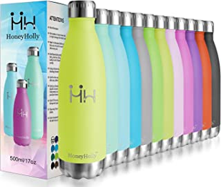 featured product HoneyHolly Vacuum Insulated Stainless Steel Sport Water Bottle-350ml/500ml/750ml Leakproof Double Walled Bpa Free Reusable Thermos Flask for Kid,Outdoor