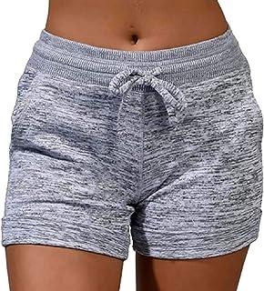 Womens Drawstring Active Wear Lounge Yoga Gym Casual Sport Shorts