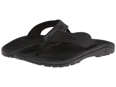 Olukai Sandals Mens Olukai Ohana Flat Black/Dark Shadow 838482