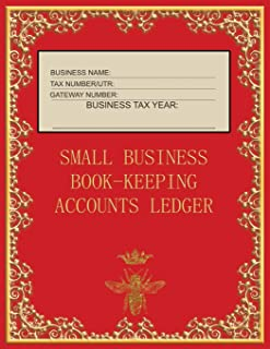 Small Business Book-Keeping Accounts Ledger: Large Book-keeping ledger for the small business and self-employed - Red and ...