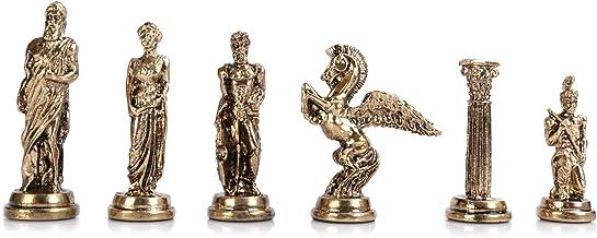 GiftHome pi/èces d/échecs Uniquement Figurines Romaines en cuivre Antique Faites /à la Main Cool Chess Pieces King 2,8 Planche Non Incluse