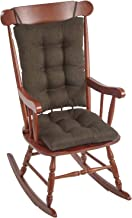 (Seat measures: 17x 17inches x 7.6cm . Back measures: 17x 21inches x 7.6cm . - Omega, Chestnut) - The Gripper Non-Slip Omega Jumbo Rocking Chair Cushions, Chestnut
