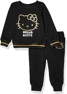 Hello Kitty Baby Girls 2 Piece Sweatshirt and Pant Active Set, Black, 12M