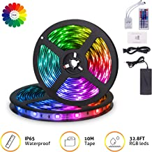 MingoPro LED Strip Lights,32.8FT/10M 300 LEDs SMD5050 RGB Strip Lights IP65 Waterproof Flexible Strip Lighting for Home Kitchen,tv, Desk Table, Dining Room, Bed Room