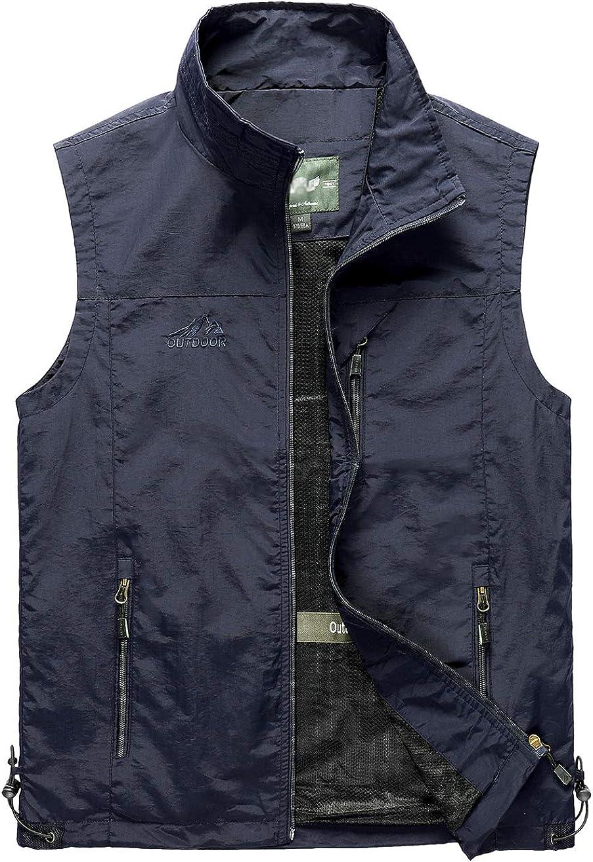 Ainangua Men's Lightweight Outdoor Travel Fishing Vest Work Safari Photo Vest with Pockets