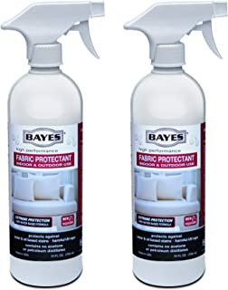 Bayes High-Performance Fabric Protectant Spray for Indoor and Outdoor Use - Water, Stain, and UV Rays Repellent - 24 oz, 2 Pack