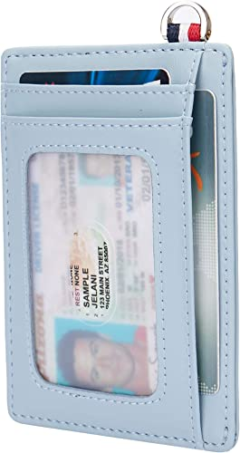 1 Unisex Calidad Fuerte Azul Denim 3 Fold Wallet Monedas Notas Foto pasa tarjetas