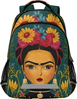 DIOLPOM Mexico Art Big Student Backpack - 15-inch Laptop Compartment, Schoolbag Daypack for Business Travel with Multiple ...