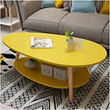 liulishop coffee table Coffee Table 2-layer Industrial Cocktail Table Multifunction Sturdy Storage Rack, Used for Bedroom ...