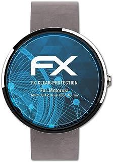 atFoliX Skärmskyddsfilm är kompatibel med Motorola Moto 360 2.Generation 46 mm Film, ultra-klar FX Skyddsfilm (3X)