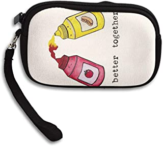小銭入れ コインケース 苺ジャム サラダ 携帯用 大容量 ファスナー 財布 カード収納 軽量