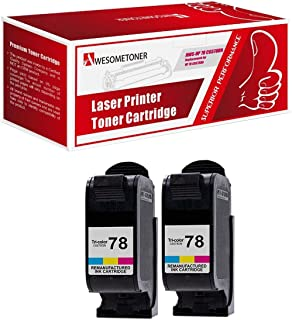 2 Pack HP C6578DN (HP 78) Color Ink Cartriadge Compatible for Hp Ink Cartridge 51645a 45 45a C6578dn C6578 78 6578 Combo Pack
