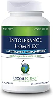 Enzyme Science™ Intolerance Complex™, 90 Capsules – Comprehensive Support for Common Digestive Sensitivities – Gluten, Cas...