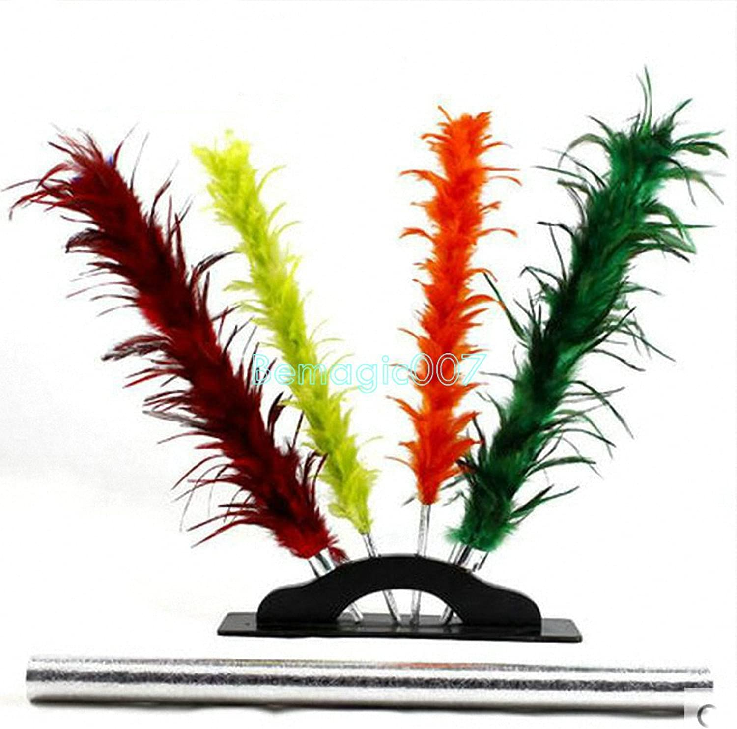 Stage Magic Tricks Hamed colorful Feather Sticks