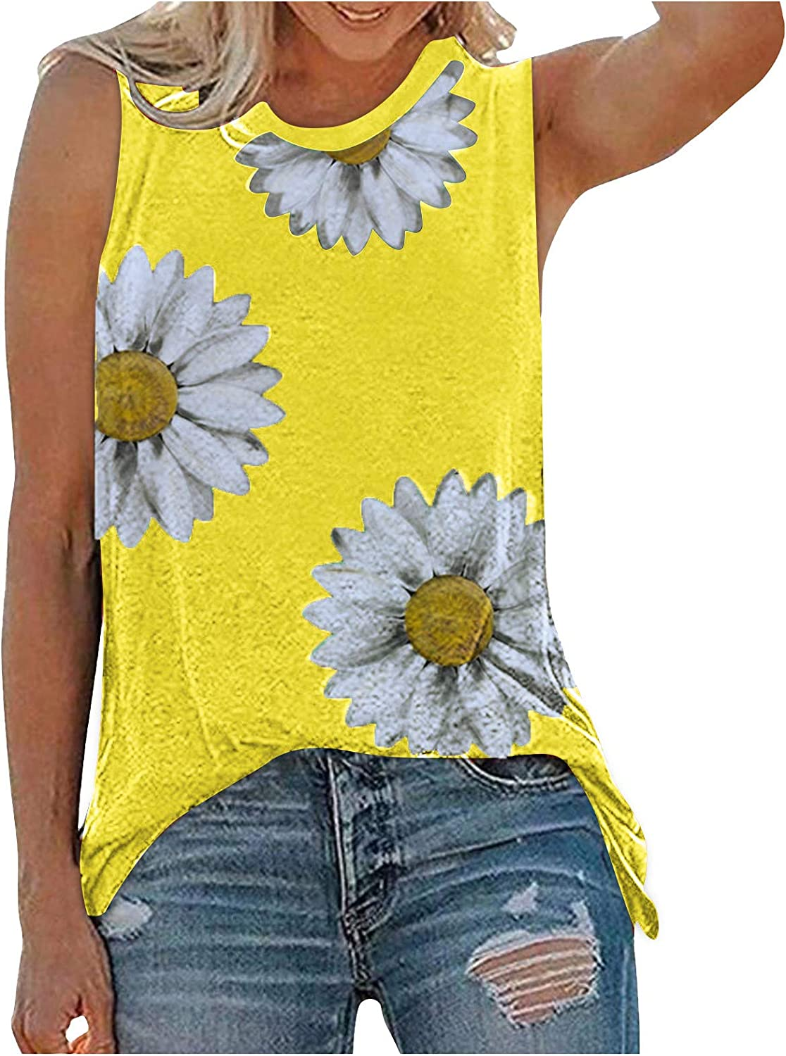 Gerichy Tank Tops for Women Casual, Womens Summer Loose Fit Sleeveless Fashion Tank Tees Shirts Blouses Vest Tops