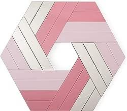Now House by Jonathan Adler Hexagonal Chroma Wall Art, Pink