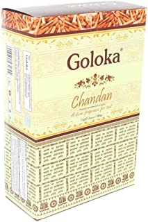 Goloka Chandan Incense Sticks - 15gms (Pack of 12)