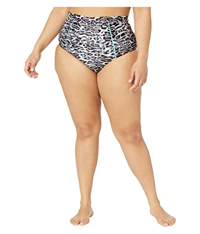 BECCA by Rebecca Virtue Plus Size Animal Kingdom High-Waist Vintage Bottoms (Leopard) Women