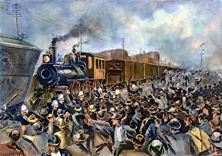 Pullman Strike 1894 Nchicago Police Trying To Quell A Mob Of Rioting Workers To Allow A Train To Pass On The Tracks Near F...
