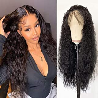 Candice Hair Long Loose Curly Synthetic Wig 13x4 Lace Front Wigs Natural Hairline With Baby Hair Heat Resistant Fiber Swis...