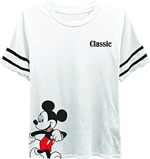 Disney Ladies Mickey Mouse Fashion Shirt - Ladies Classic Mickey Mouse Clothing Mickey Mouse Short Sleeve Tee
