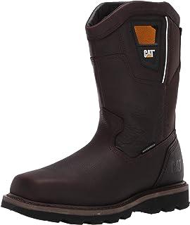 حذاء عمل رجالي من Caterpillar Stillwell صلب مقاوم للماء مقاس 14 أحمر بني