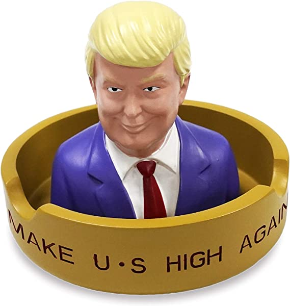 Donald Trump Creative Cigar Ash Tray Resin Ash Holder For Indoor Outdoor Home Office And Car Ashtray Smoke Collectible Decoration Statue