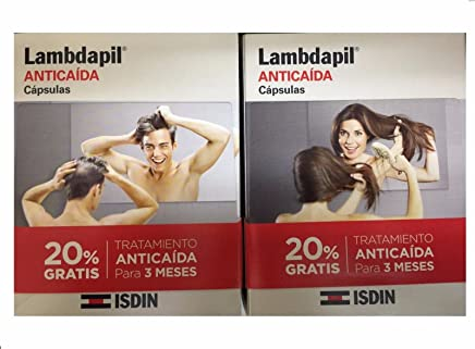 ISDIN LAMBDAPIL ANTICAIDA 180 capsulas Xmas Gift Skin Beauty Gift