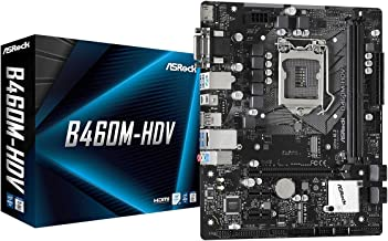 ASROCK B460M-HDV Supports 10th Gen Intel Core Processors (Socket 1200) Motherboard