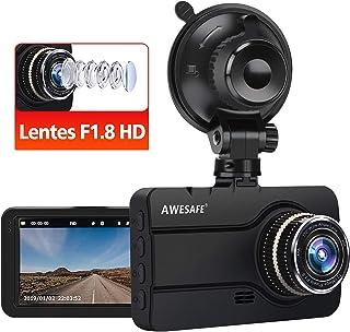 AWESAFE Dash CAM Cámara de Coche con Lentes F1.8 1080P Full HD 170 Ángulo con WDR G-Sensor Detección de Movimiento Grabación en Bucle Visión Nocturna Monitor de Aparcamiento